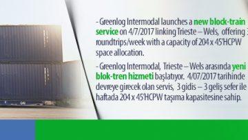 Greenlog Intermodal launches a new block – train.