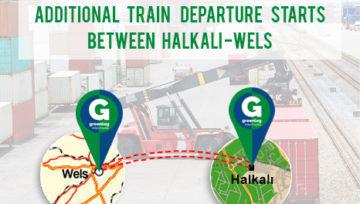 Halkalı-Wels / Wels-Halkalı için ek tren seferimiz hizmete girmiştir.